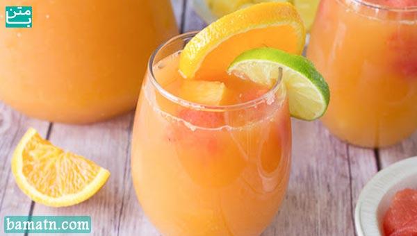 آب پرتقال، گریپ فروت و لیمو