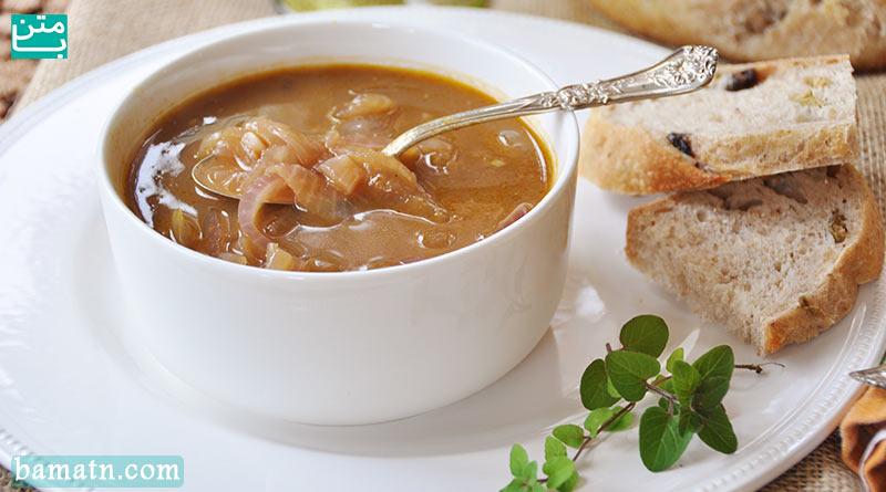 طرز تهیه سوپ پیاز فرانسوی برای ۴ نفر مناسب سرماخوردگی