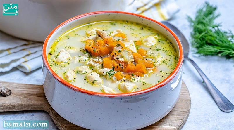 طرز تهیه سوپ مرغ ساده و سوپ جو با خامه برای ماه رمضان