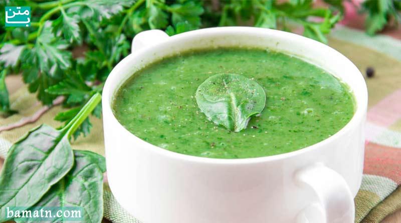 طرز تهیه سوپ اسفناج خوشمزه به همراه دستور پخت