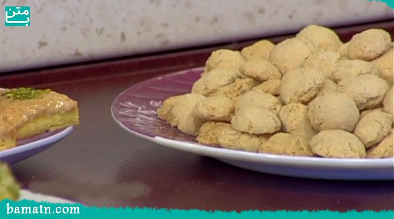 فیلم طرز تهیه حاجی بادام یزدی خوشمزه با آرد سفید