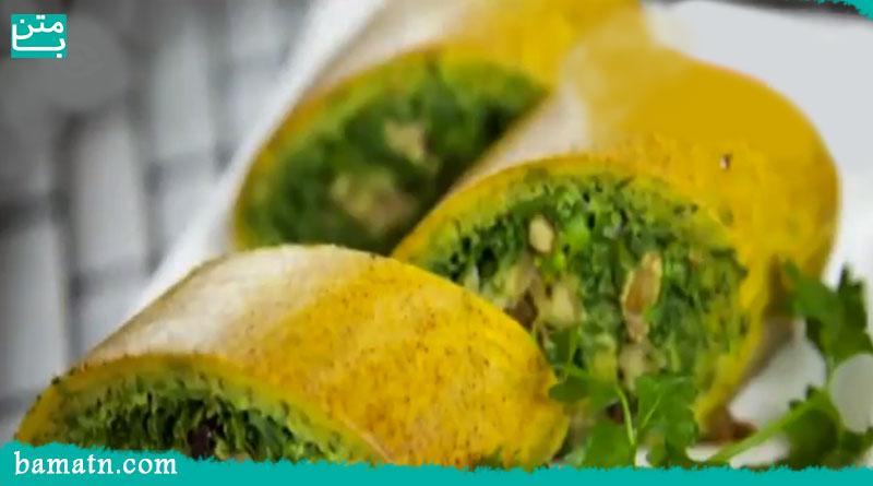 آموزش طرز تهیه كوكو سبزی رولتی در فر مرحله به مرحله