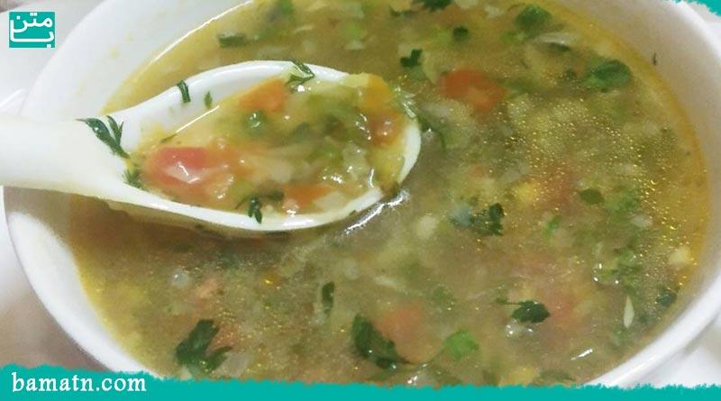 طرز تهیه سوپ سبزیجات ترکیه با هویج و گوشت چرخ کرده