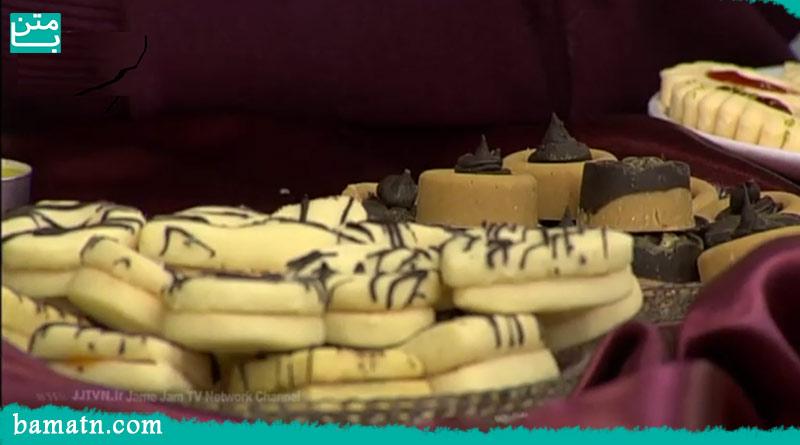 طرز تهیه شیرینی برشتوک سنتی با قالب و شکلات تلخ