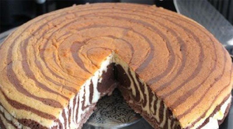 طرز تهیه کیک کره ای دو رنگ خانگی ساده با پودر کاکائو برای 6 نفر