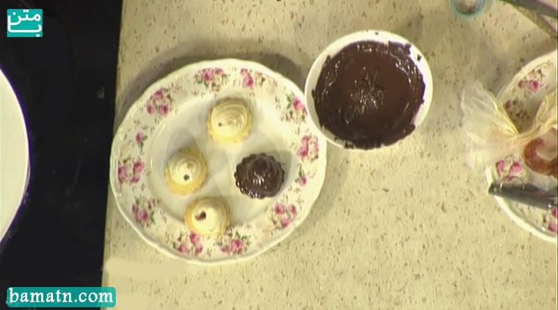 فیلم طرز تهیه شیرینی کرم بادام زمینی با فر در خانه