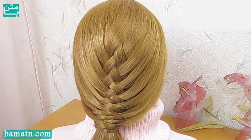 آموزش طریقه بافت مو سر به روش ساده مناسب برای خانم ها
