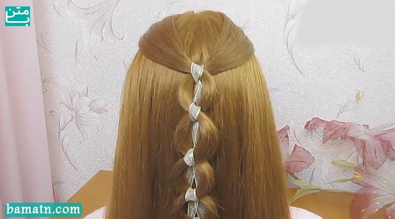 ویدیو آموزش روش بافت مو دخترانه زیبا مناسب برای خانم ها