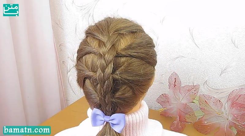 فیلم آموزش بافت مو پشت سر دخترانه زیبا مناسب برای خانم ها