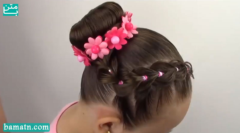آموزش بافت مو کودکانه دخترانه ساده جلوی سر مناسب برای بچه ها