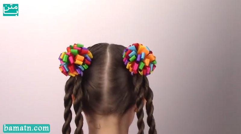 آموزش بافت مو دخترانه ساده پشت سر مناسب برای کودکان