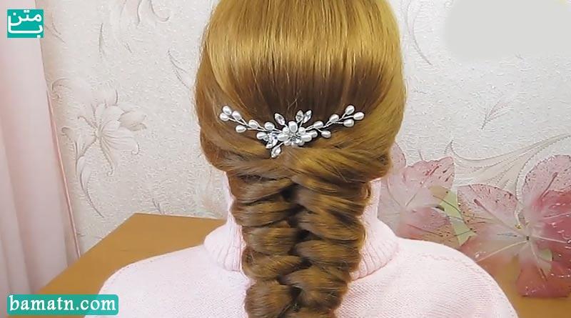 آموزش بافت مو دخترانه ساده پشت سر بسیار زیبا و شیک