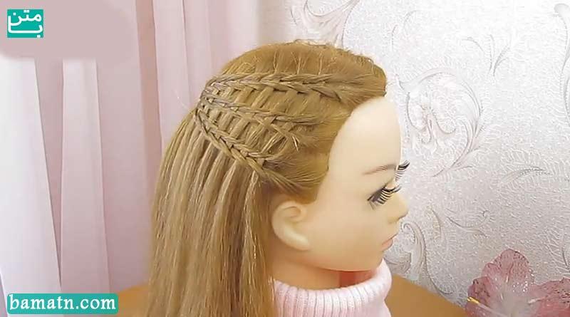 آموزش بافت مو جلوی سر دخترانه زیبا مناسب برای خانم ها