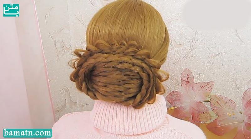 آموزش بافت مو پشت سر دخترانه ساده بسیار زیبا مناسب بانوان