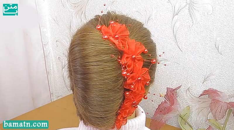آموزش بافت مو دخترانه ساده پشت سر زیبا و شیک سری 21