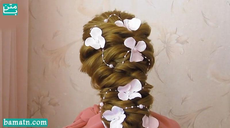 آموزش بافت مو دخترانه ساده پشت سر زیبا و شیک سری 20