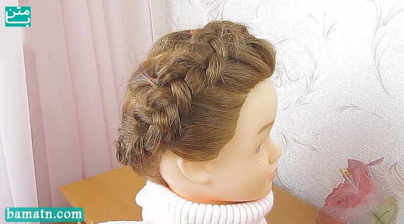آموزش بافت مو دخترانه ساده پشت سر زیبا و شیک سری 23