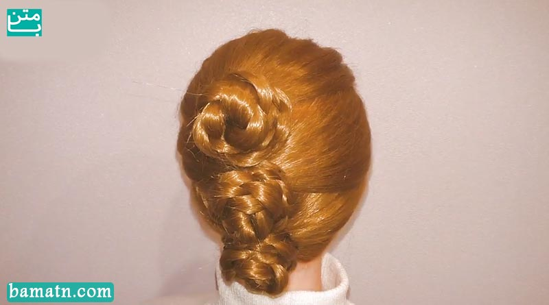 آموزش بافت مو دخترانه ساده و زیبا سری 25