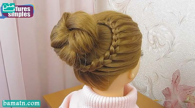 آموزش بافت مو دخترانه ساده و زیبا سری 26