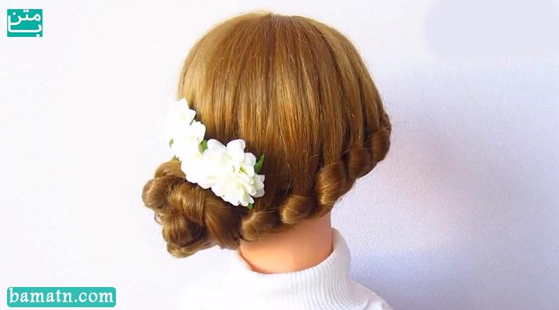 آموزش بافت مو دخترانه ساده و زیبا سری 27