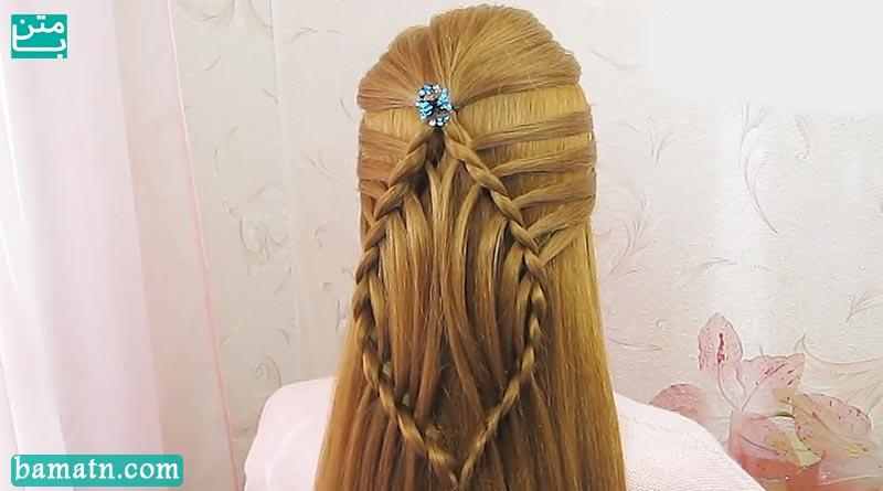 آموزش بافت مو دخترانه ساده و زیبا سری 28