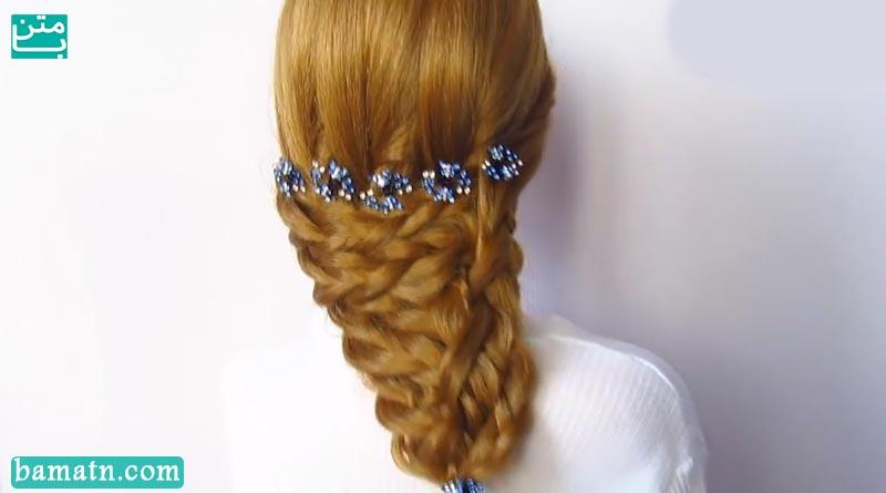 آموزش بافت مو دخترانه ساده و زیبا سری 29