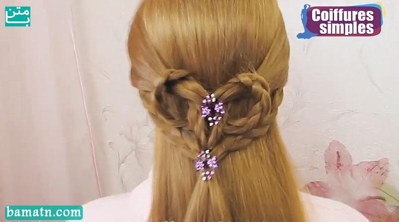 آموزش بافت مو دخترانه ساده و زیبا سری 31
