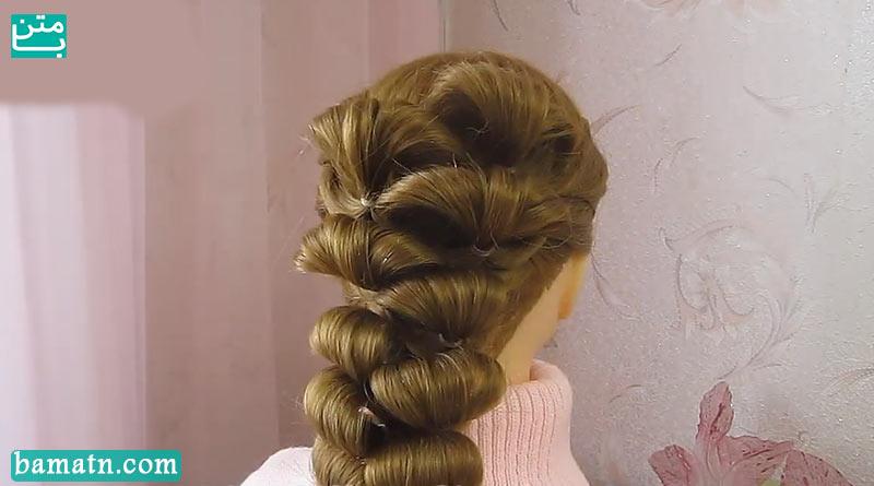 آموزش بافت مو دخترانه ساده و زیبا سری 32