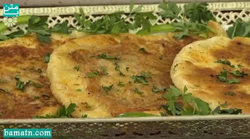 فیلم آموزش طرز تهیه قطاب نان باکویی به همراه دستور پخت