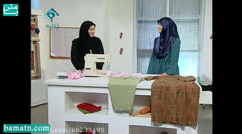 آموزش دوخت یقه انگلیسی سجاف سرخود با الگو خانم عمرانی