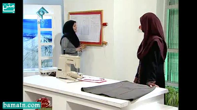 فیلم آموزش دوخت دامن برش عصایی با الگو خیاطی خانم عمرانی