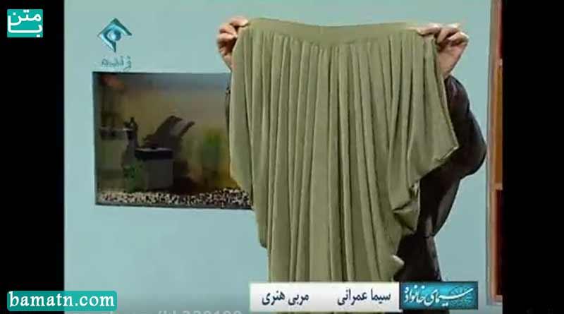 ویدیو آموزش دوخت شلوار دراپه خانم عمرانی با الگو خیاطی