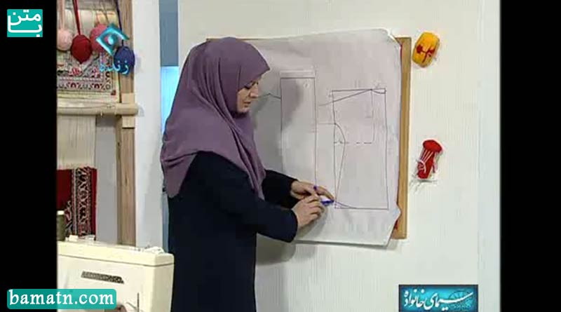 آموزش دوخت چادر شال دار با الگو خانم عمرانی قسمت دوم