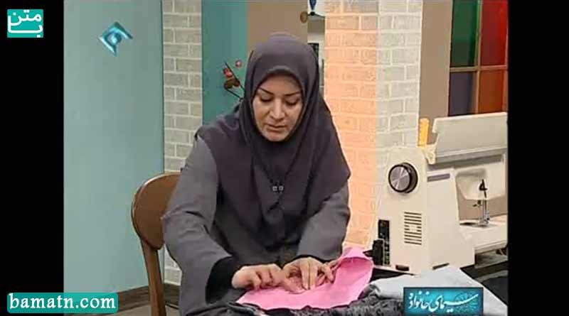 آموزش طریقه دوخت چاک پشت دامن و زیپ مخفی خانم عمرانی