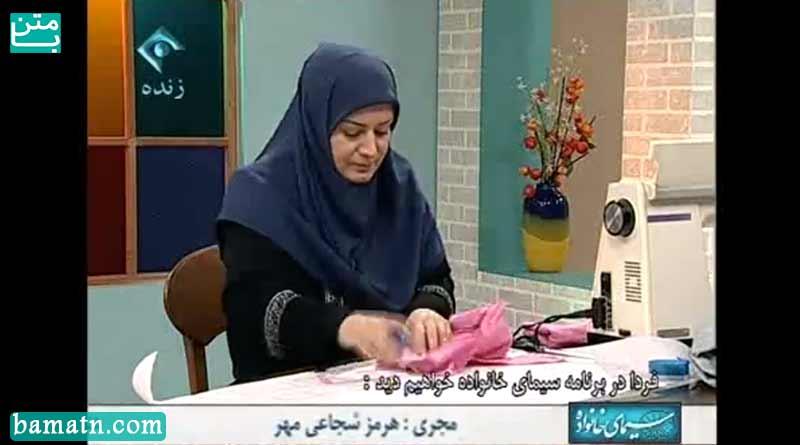 آموزش دوخت سجاف کمر خانم عمرانی + فیلم