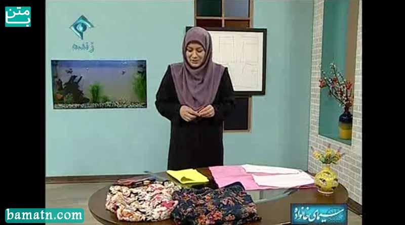 آموزش دوخت دامن فون ساده خانم عمرانی با الگو خیاطی