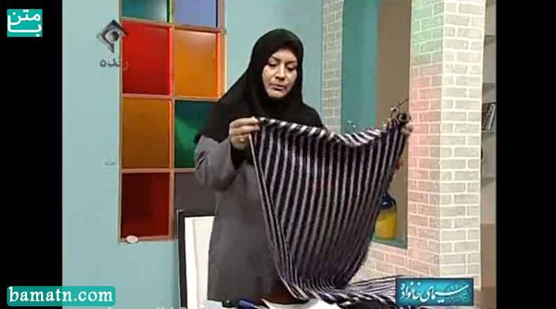 آموزش روش دوخت دامن جناحی خانم عمرانی با الگو خیاطی