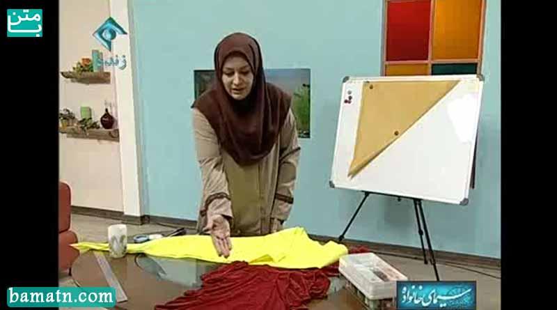 فیلم آموزش طرز دوخت دامن دراپه خانم عمرانی با الگو