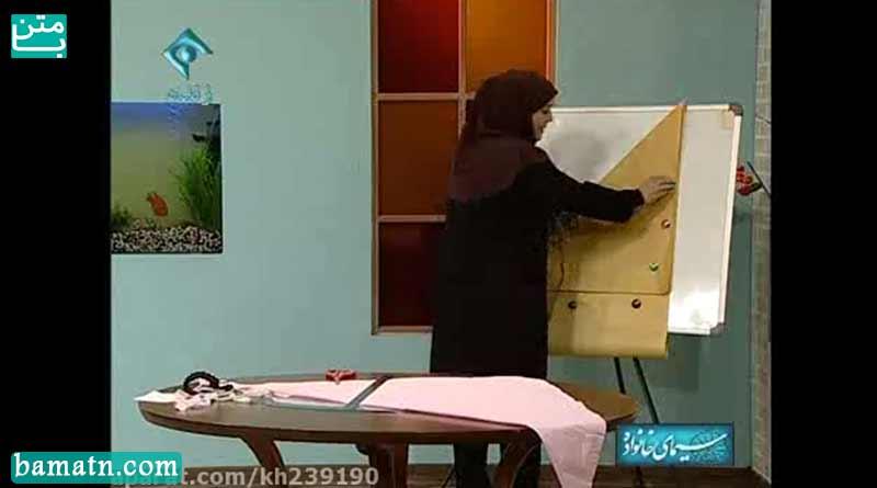 آموزش دوخت مقنعه دانشجویی خانم عمرانی با الگو خیاطی