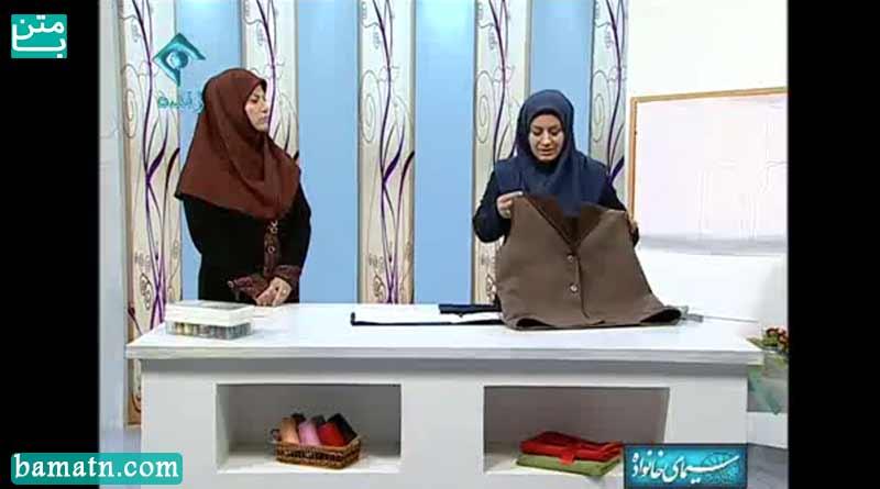 آموزش دوخت پالتو کلاه سرخود خانم عمرانی با الگو خیاطی