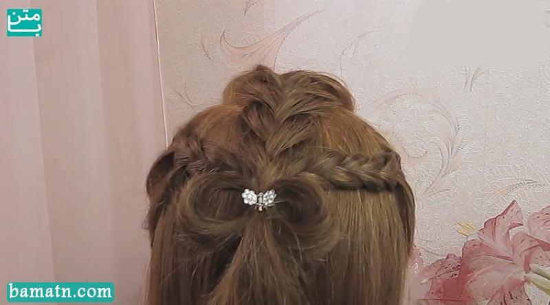 آموزش بافت مو دخترانه ساده پشت سر زیبا و شیک سری 24