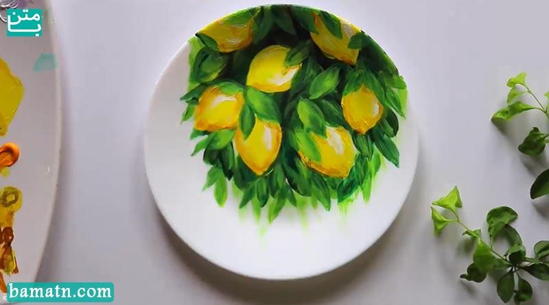 فیلم آموزش نقاشی گل روی بشقاب و ظروف با رنگ روغن