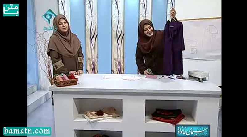 آموزش دوخت یقه حلزونی سرخود خانم عمرانی با الگو خیاطی