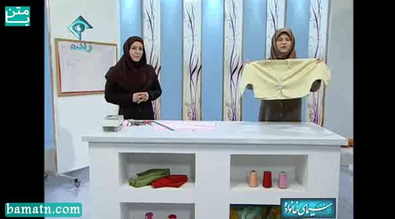 آموزش روش دوخت کت کوتاه آستین کیمونو خانم عمرانی با الگو